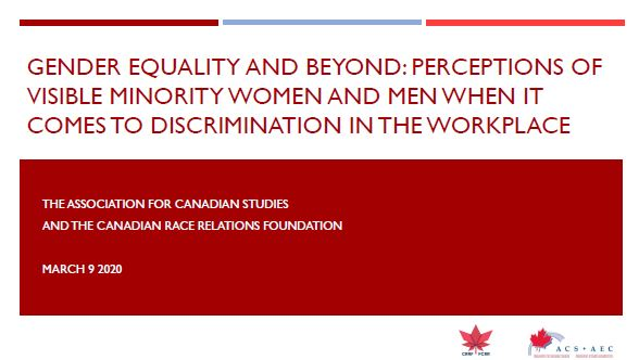 Perceptions of Discrimination against Women in the Workplace