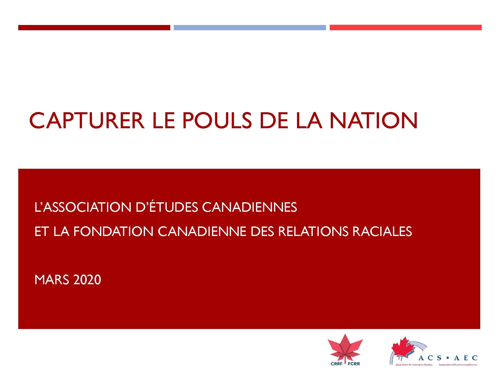 Capturer le Pouls de la Nation