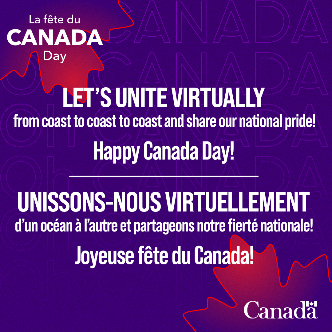 Preparing for Virtual Canada Day Celebration