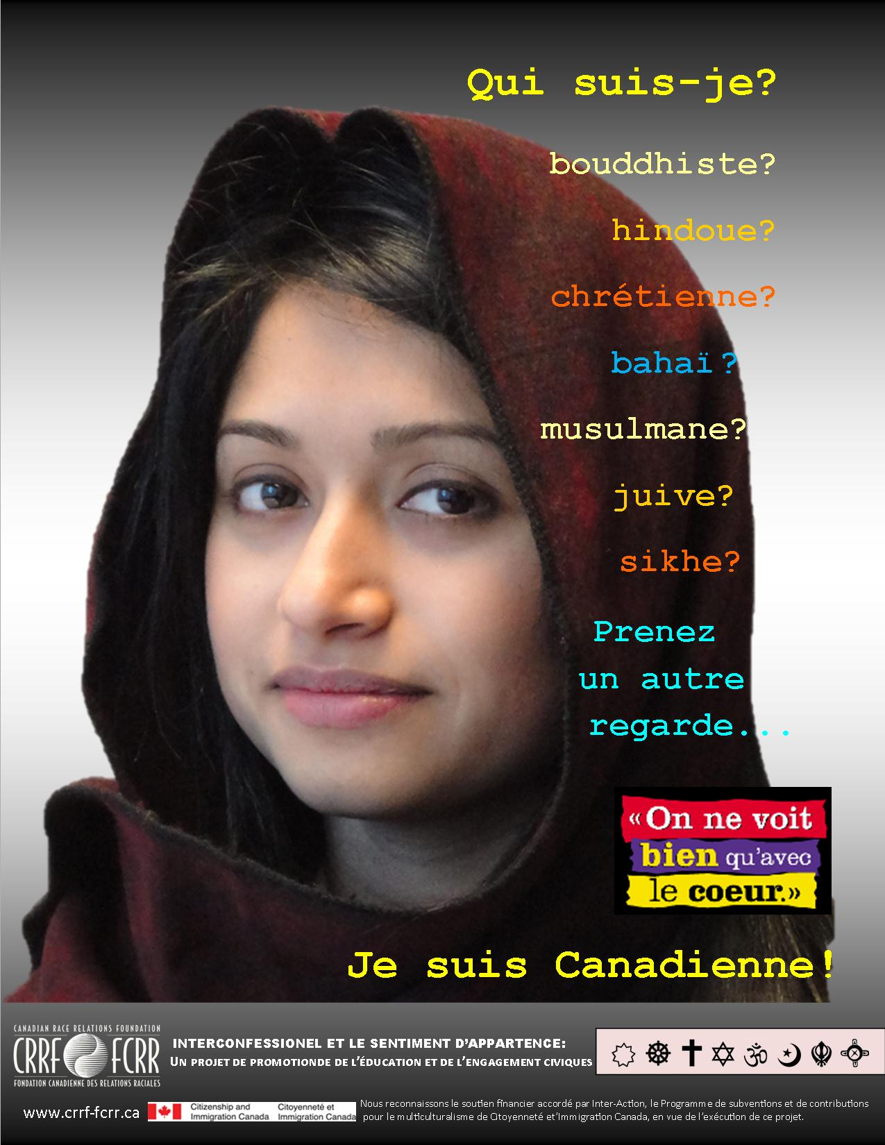 Interfaith and Belonging Project poster FRENCH