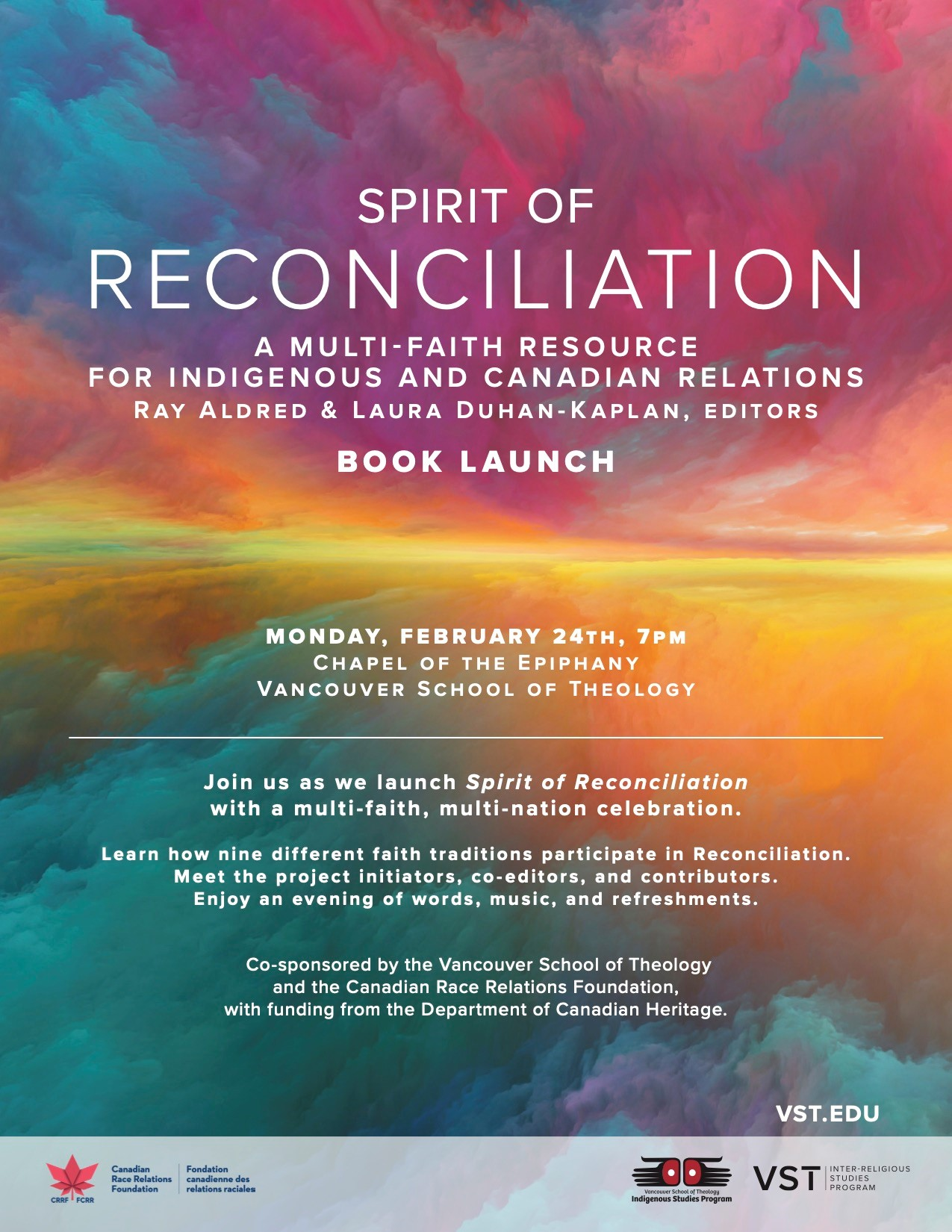 Spirit of Reconciliation launch flyer