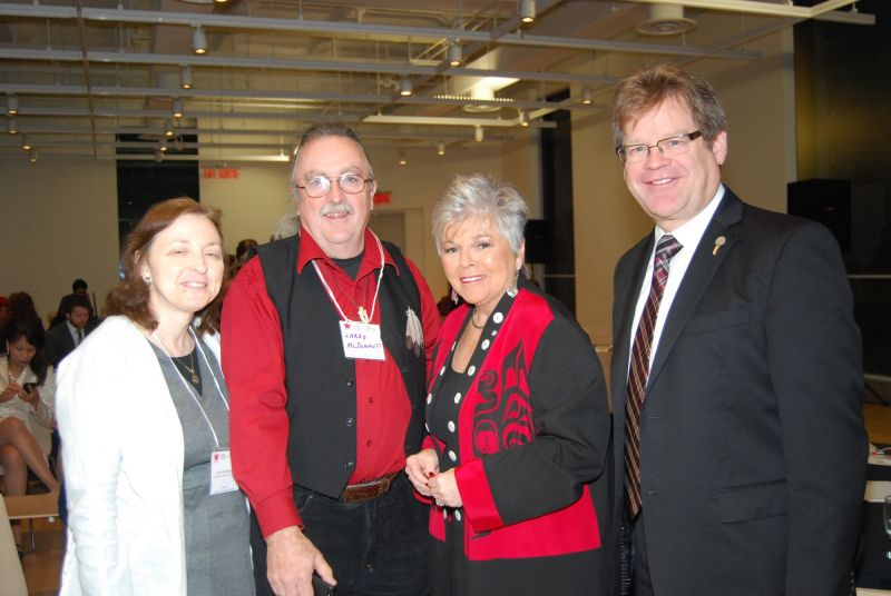 L. to R. / G. à D. - Anita Bromberg, Larry McDermott, Roberta Jamieson, David Langtry